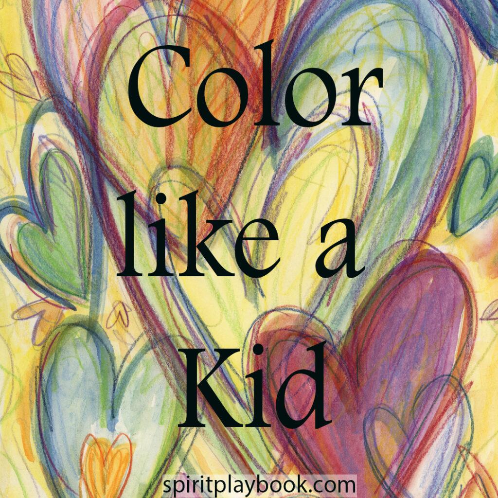Color Like a Kid Rainbow Hearts Art Painting